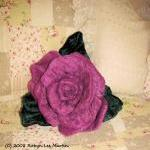 Rose Soft Sculpture Pillow..